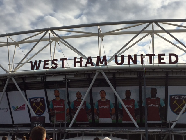 West ham outside olympic stadium